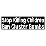 Stop Killing Children Cluster Bombs sticker
