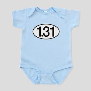1.31 Half Marathon Humor Infant Bodysuit