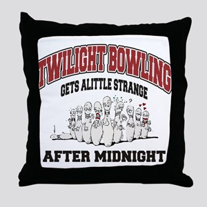 Funny Twilight Bowling Throw Pillow