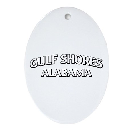 Gulf Shores Alabama Ornament (Oval)