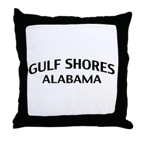 Gulf Shores Alabama Throw Pillow