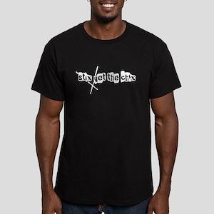 Stix get the chix -- Men's Fitted T-Shirt (dark)