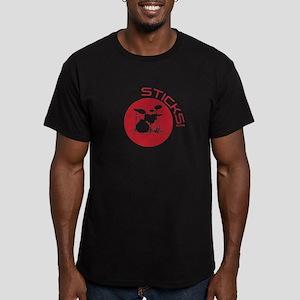 Sticks -- Men's Fitted T-Shirt (dark)