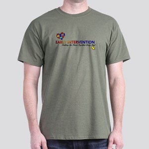 Early Intervention (Autism) Dark T-Shirt