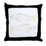 White (Sand) Seatrout Throw Pillow