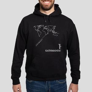 Kathmandu Geocode map Sweatshirt