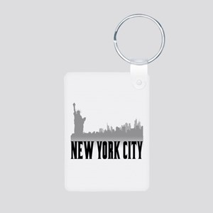 New York City Aluminum Photo Keychain