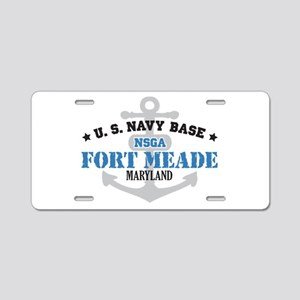 US Navy Fort Meade Base Aluminum License Plate