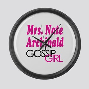 Mrs. Nate Archibald Gossip Girl Large Wall Clock
