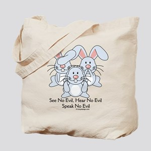 No Evil Bunnies Tote Bag