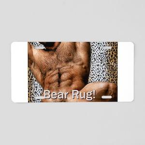 Bear Rug: AriesArtist.com Aluminum License Plate