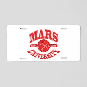 Mars U Aluminum License Plate