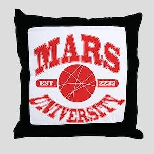 Mars U Throw Pillow