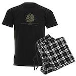 Buddha- Present Moment Men's Dark Pajamas