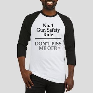 """""""Gun Safety"""" Baseball Jersey"""