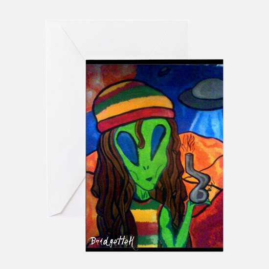 Funny Alien Greeting Card
