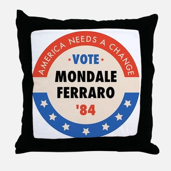 Vote Mondale '84 Throw Pillow