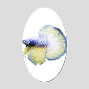 Betta (bright) 22x14 Oval Wall Peel