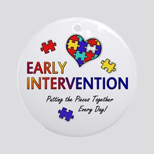 Early Intervention (Autism) Ornament (Round)
