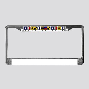 Nautical Philadelphia License Plate Frame