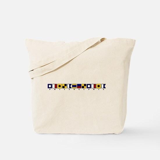 Nautical Philadelphia Tote Bag
