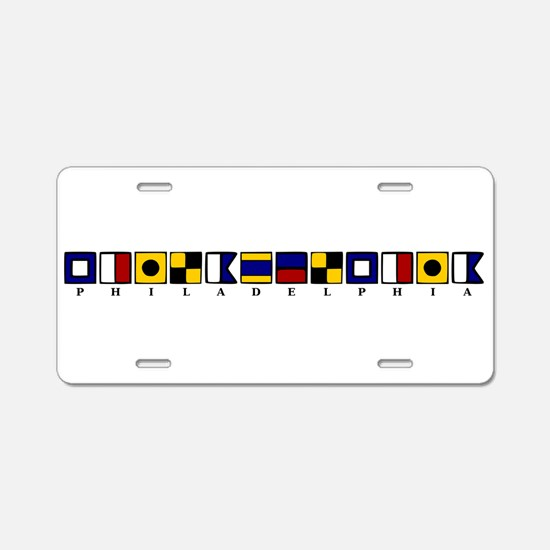 Nautical Philadelphia Aluminum License Plate