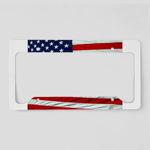 USA Flag License Plate Holder