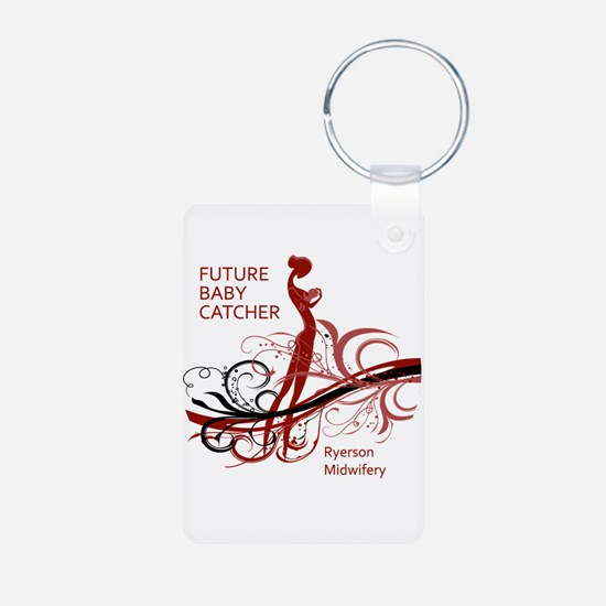 Midwife Aluminum Photo Keychain