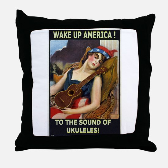 Wake Up America! Throw Pillow