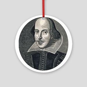 Wm Shakespeare Ornament (Round)