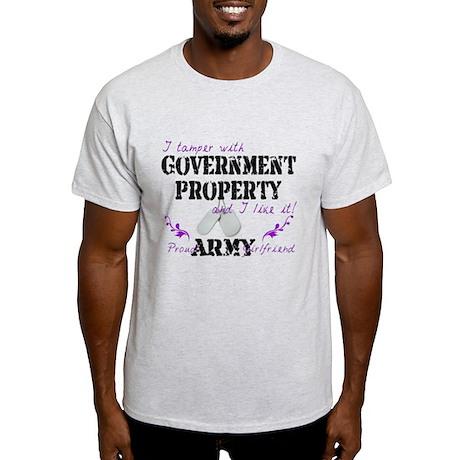 Tamper W Gov Property A Girlfriend Light T-Shirt