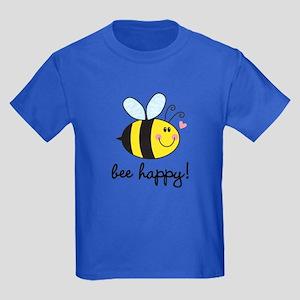 Bee Happy Kids Dark T-Shirt