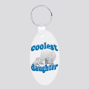Coolest Daughter Aluminum Oval Keychain