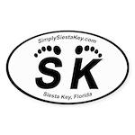 Siesta Key Oval Sticker
