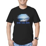 Beach/Ocean Wish I Was There Men's Fitted T-Shirt