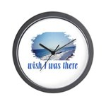 Beach/Ocean Wish I Was There Wall Clock