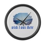 Beach/Ocean Wish I Was There Large Wall Clock