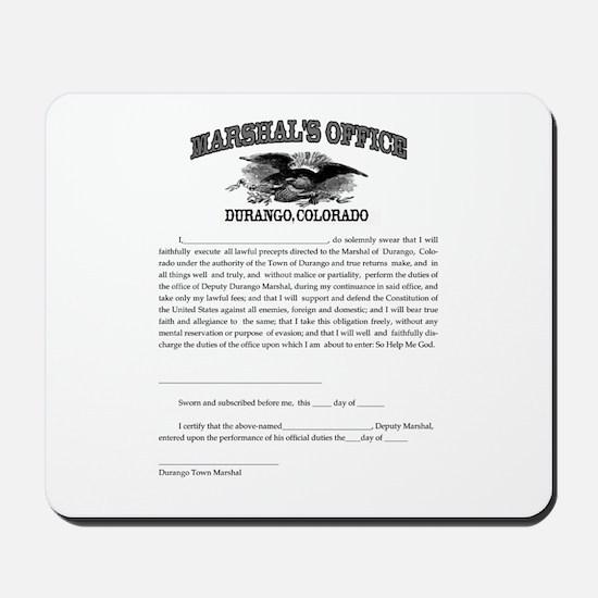Durango Marshal Mousepad