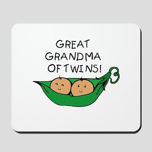 Great Grandma Twins Pod Mousepad