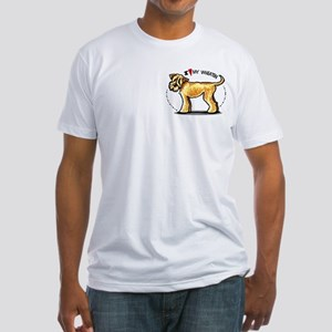Wheaten Terrier Lover Pocket Fitted T-Shirt