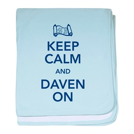 Keep Calm & Daven baby blanket