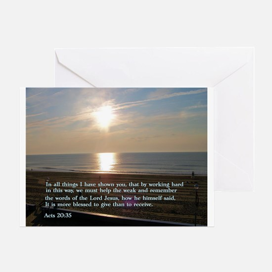 Acts 20:35 Greeting Card