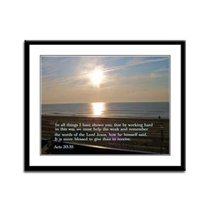 Acts 20:35 Framed Panel Print