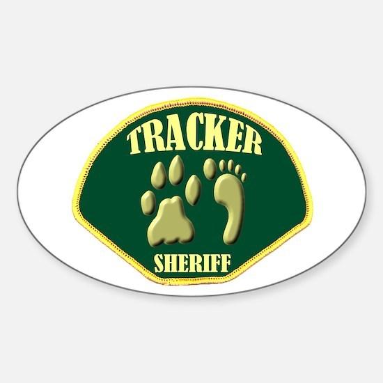 Sheriff Tracker Sticker (Oval)