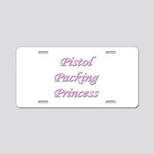 Pistol Packing Princess Aluminum License Plate