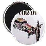 Classic car design and art deco girl Magnets