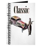 Classic car design and art deco girl Journal