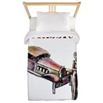 Classic car design and art deco girl Twin Duvet Co
