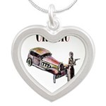 Classic car design and art deco girl Necklaces
