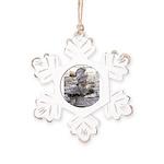 Roman Centurion Rustic Snowflake Ornament